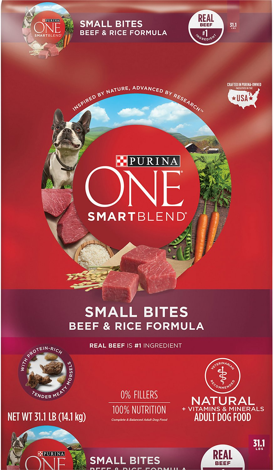Purina One Smartblend Small Bites Beef And Rice Dry Dog Food 311