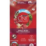 Purina ONE SmartBlend Small Bites Beef and Rice Dry Dog Food, 31.1-lb bag