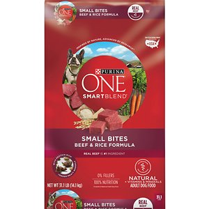 Purina ONE SmartBlend Small Bites Beef and Rice Dry Dog Food
