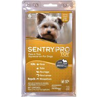 Sentry Pro Toy- Small Breed Flea & Tick Squeeze-On Dogs (4-10 lbs), 6 treatments