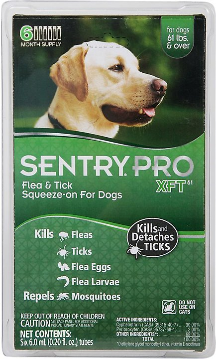 Sentry Pro Xft Flea Amp Tick Squeeze On Dogs Over 60 Lbs 6