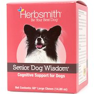 Herbsmith Senior Dog Wisdom Cognitive Support Soft Chews Dog Supplement, 60 count, Large