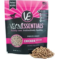 Vital Essentials Chicken Entree Mini Nibs Grain-Free Freeze-Dried Dog Food, 1-lb bag
