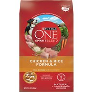 Purina ONE SmartBlend Chicken & Rice Adult Formula Dry Dog Food, 8-lb bag
