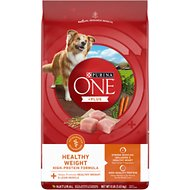 Purina ONE SmartBlend Healthy Weight High Protein Formula Adult Dry Dog Food, 8-lb bag