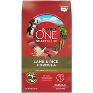 Purina ONE SmartBlend Lamb & Rice Adult Formula Dry Dog Food, 8-lb bag