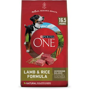 Purina ONE SmartBlend Lamb & Rice Adult Formula Dry Dog Food, 16.5-lb bag