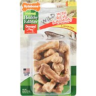 Nylabone Natural Healthy Edibles Wild with Real Salmon Small Dog Treats, 8 count