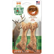 Nylabone Natural Healthy Edibles Wild with Real Venison Medium Dog Treats, 2 count