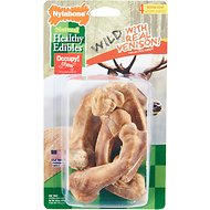 Nylabone Natural Healthy Edibles Wild with Real Venison Medium Dog Treats, 4 count