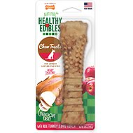 Nylabone Natural Healthy Edibles with Real Turkey & Apple Large Dog Bone Treat, 1 count