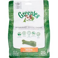 Greenies Veterinary Dental Chews Petite Dental Dog Treats, 20 count