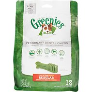 Greenies Veterinary Dental Chews Regular Dental Dog Treats, 12 count