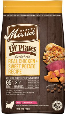 4. Merrick Lil' Plates Grain-Free Real Chicken & Sweet Potato Dry Dog Food