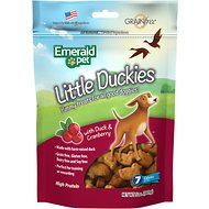 Emerald Pet Little Duckies with Duck & Cranberry Dog Treats, 5-oz bag