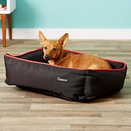 Dogzilla Rectangular Lounger Pet Bed, Red/Black