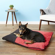 Dogzilla Pillow Pet Bed, Red/Black