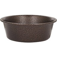 Platinum Pets Stainless Steel Extra Heavy Dog Bowl, Copper Vein, Small