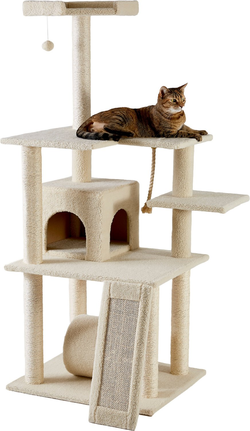 2bfd0099c966 Frisco 62-in Cat Tree, Cream - Chewy.com