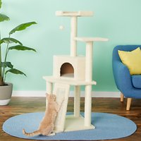 Deals on Frisco 52-in Faux Fur Cat Tree & Condo