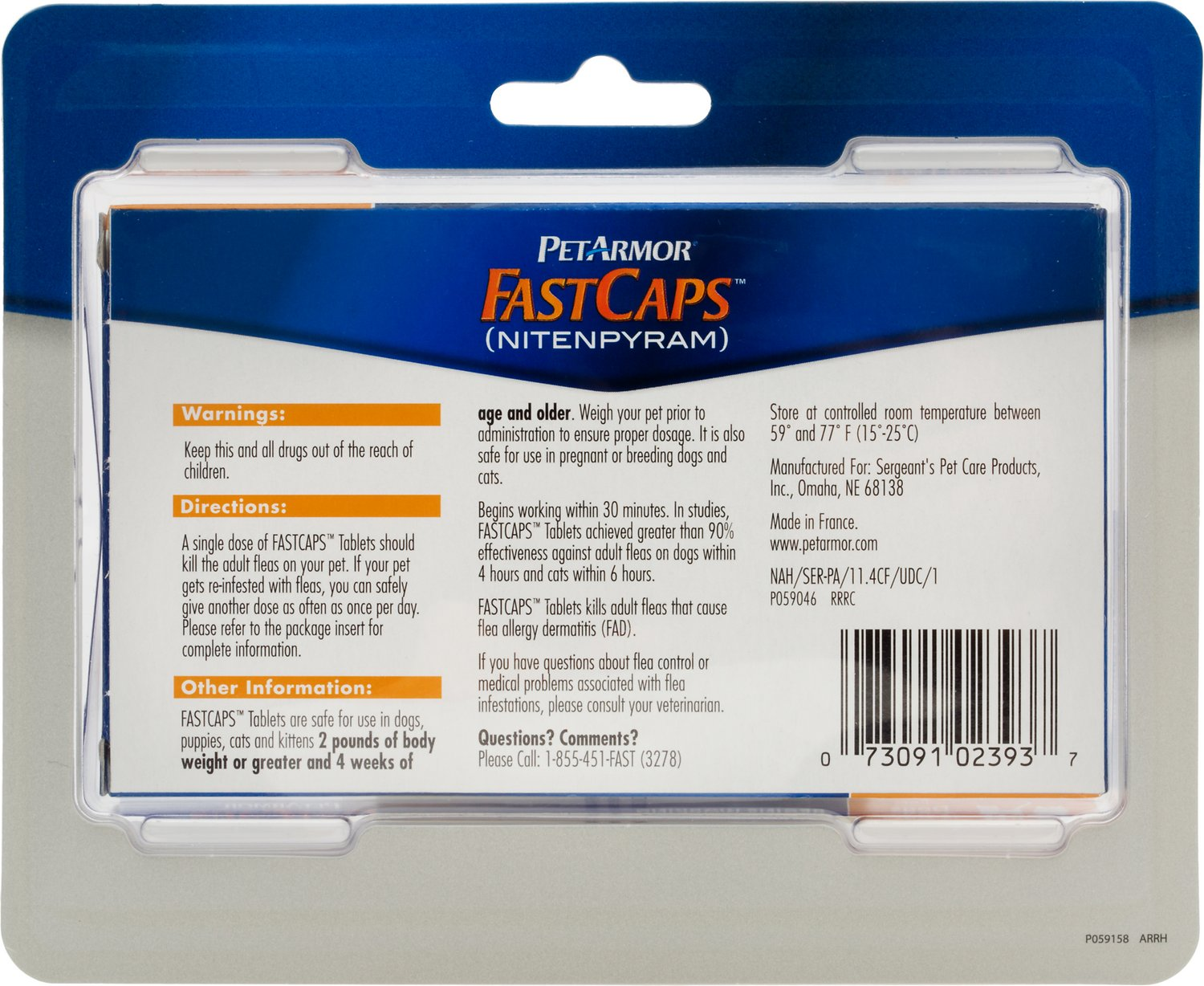 PetArmor FastCaps Oral Flea Tablets for Dogs & Cats 2 25 lbs 6