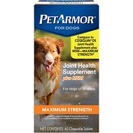 PetArmor Joint Health Dog Supplement Plus MSM Maximum Strength Chewable Tablets, 60-count
