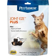PetArmor Joint-Eze Plus Hip & Joint Health Chicken Flavor Soft Dog Chews, 60-count