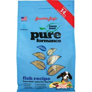 Grandma Lucy's Pureformance Grain-Free Fish Recipe Freeze-Dried Dog Food, 3-lb bag