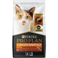 Purina Pro Plan Probiotic Savor Adult Shredded Blend Salmon & Rice Formula Dry Cat Food, 14-lb bag