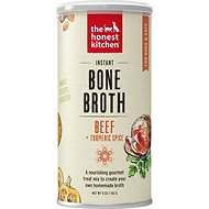 The Honest Kitchen Beef Bone Broth with Turmeric Liquid Treats for Dogs & Cats, 5-oz jar