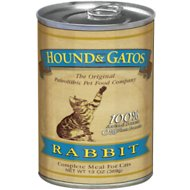 Hound & Gatos Rabbit Formula Grain-Free Canned Cat Food, 13-oz, case of 12