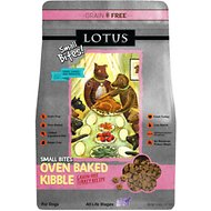 Lotus Oven-Baked Turkey Small Bites Recipe Grain-Free Adult Dry Dog Food, 4-lb bag