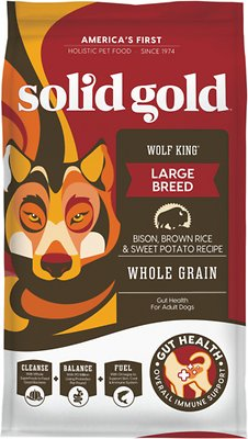 3. Solid Gold Wolf King Bison & Brown Rice Recipe