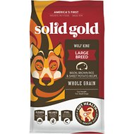 Solid Gold Wolf King Bison & Brown Rice Recipe with Sweet Potatoes Adult Dry Dog Food, 24-lb bag