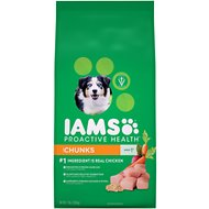 Iams ProActive Health Adult Chunks Dry Dog Food, 7-lb bag