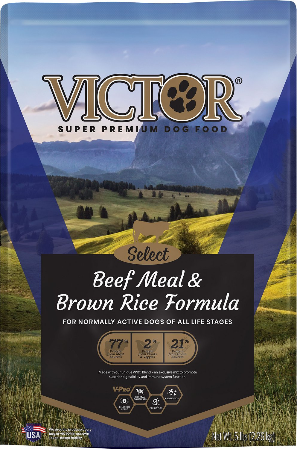 Victor Select Beef Meal Brown Rice Dry Dog Food