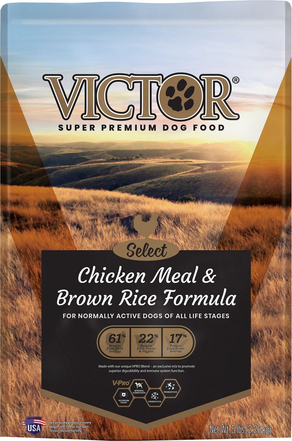 Victor Dog Food Reviews >> Victor Chicken Meal & Brown Rice with Lamb Meal Dry Dog ...