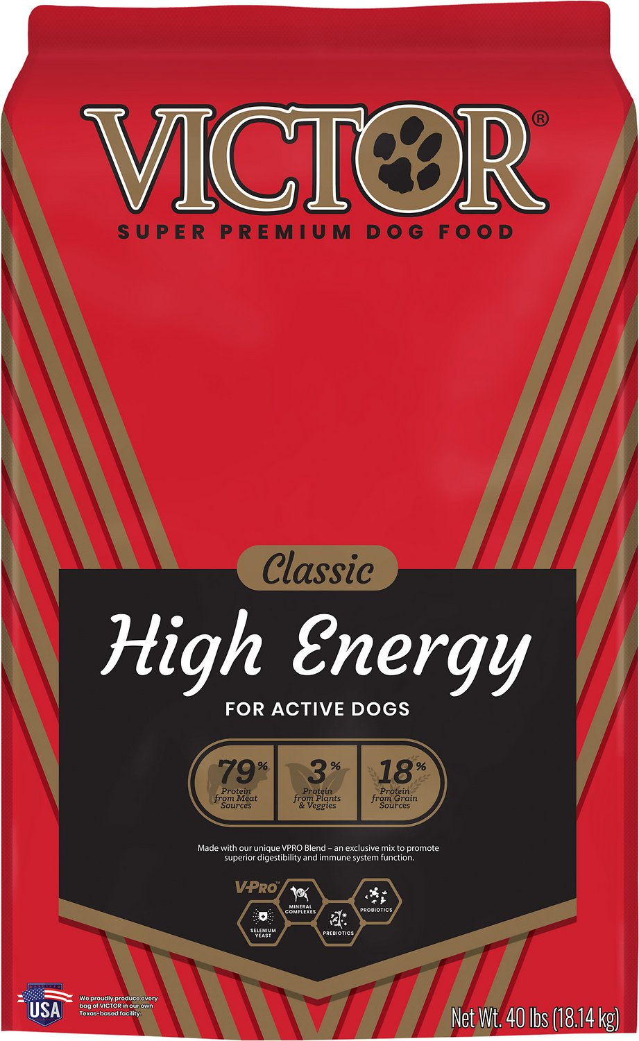 Victor Dog Food Reviews >> Victor High Energy Formula Dry Dog Food, 40-lb bag - Chewy.com