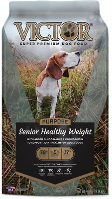 8. Victor Senior Healthy Weight Dry Dog Food