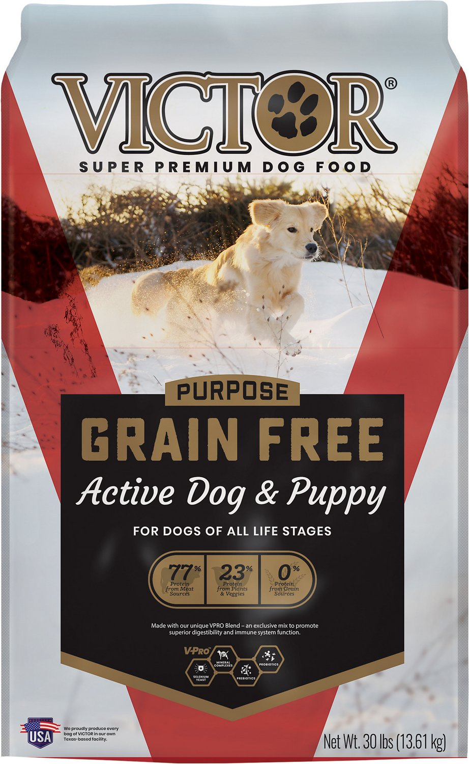 Victor Active Dog & Puppy Formula Grain-Free Dry Dog Food ...