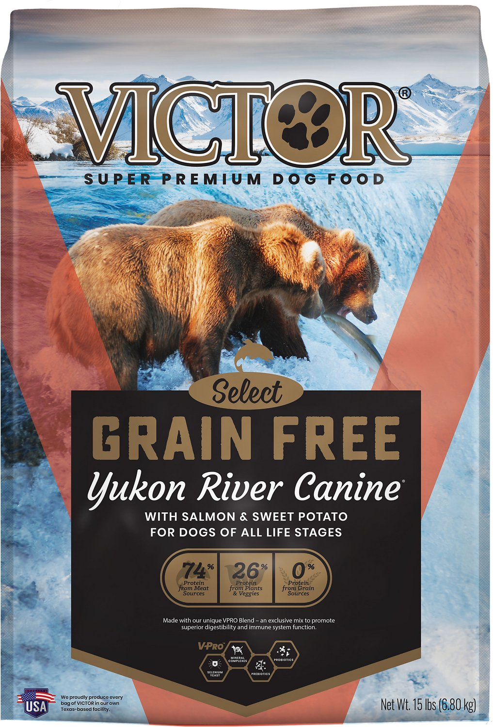 Victor Dog Food Reviews >> Victor Yukon River Salmon & Sweet Potato Grain-Free Dry Dog Food, 15-lb bag - Chewy.com