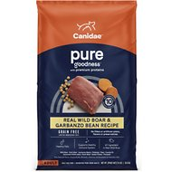 CANIDAE Grain-Free PURE Real Wild Boar & Garbanzo Bean Recipe Dry Dog Food, 24-lb bag
