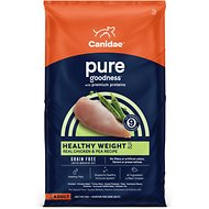 CANIDAE Grain-Free PURE Healthy Weight Real Chicken & Pea Recipe Dry Dog Food, 4-lb bag