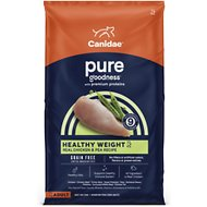 CANIDAE Grain-Free PURE Healthy Weight Real Chicken & Pea Recipe Dry Dog Food, 12-lb bag