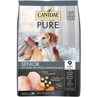 CANIDAE Grain-Free PURE Senior Real Chicken, Sweet Potato & Garbanzo Bean Recipe Dry Dog Food, 4-lb bag