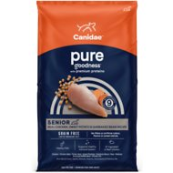 CANIDAE Grain-Free PURE Senior Real Chicken, Sweet Potato & Garbanzo Bean Recipe Dry Dog Food, 12-lb bag