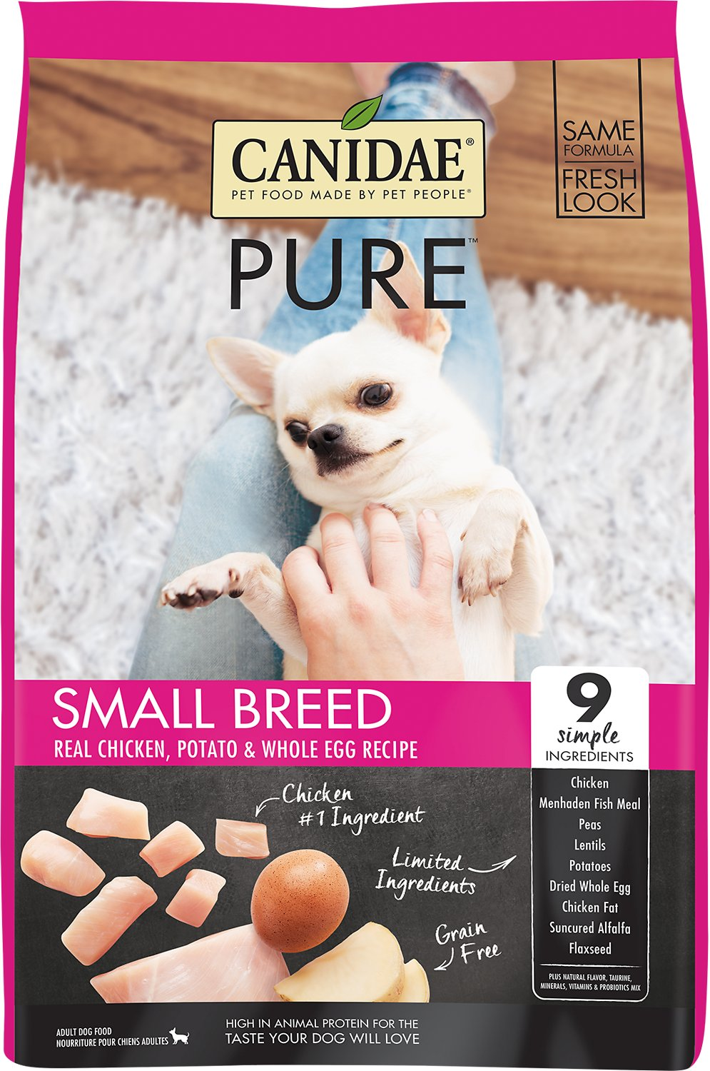 Canidae Dog Food Reviews >> Canidae Grain Free Pure Small Breed Real Chicken Potato Whole Egg Recipe Dry Dog Food 12 Lb Bag