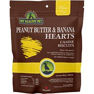 Holistic Blend Peanut Butter & Banana Hearts Biscuits Dog Treats, 8.29-oz bag