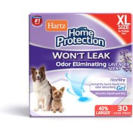 Hartz Home Protection Lavender Scent Odor Eliminating X-Large Dog Pads, 30 count