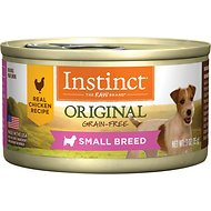 Instinct by Nature's Variety Original Small Breed Grain-Free Real Chicken Recipe Natural Wet Canned Dog Food, 3-oz, case of 24